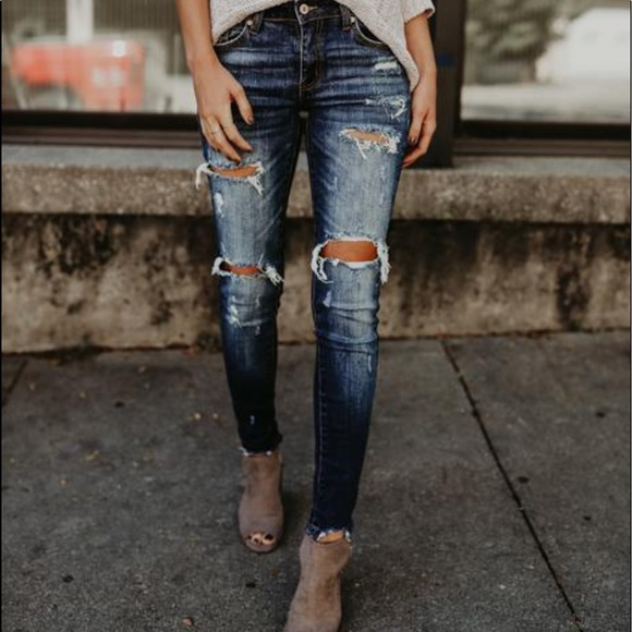 Denim - Distressed skinny jeans from Vici dolls new